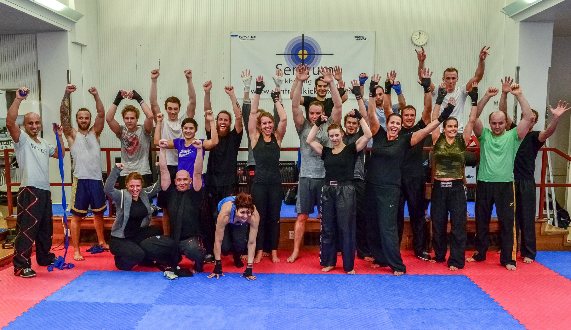 Nybegynnerparti for kickboxing i Oslo